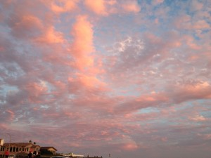 Pink clouds